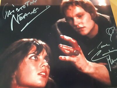CHRISOPHER NEAME x CAROLINE MUNRO  SIGNED 8 x10 PHOTO  FROM FILM DRACULA  A D72