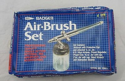 BADGER Airbrush Set Air Brush 200-3 Professional Quality For Spares
