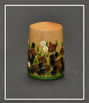 Hand Painted Wood Thimble