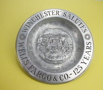 Vintage Winchester Salutes Wells Fargo & Co. 125 Years Pewter Plate