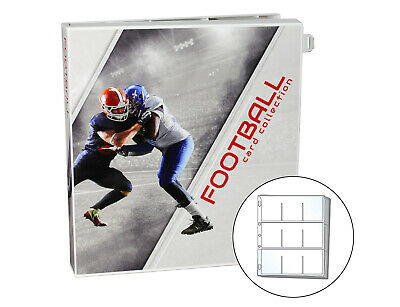 Football Trading Card Collection Album Kit, 10 Pages Included