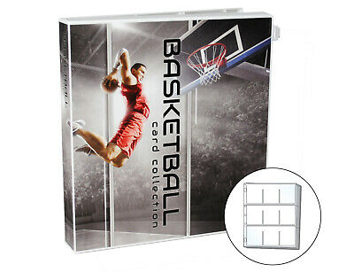 Basketball Trading Card Collection Album Kit, 10 Pages Included