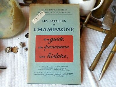 guide illustré MICHELIN,1921,des champs bataille de Champagne ,14-18,WW1