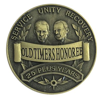 Old Timers Honoree Bronze AA recovery coin medallion token chip