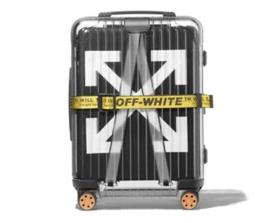 """RIMOWA X OFF-WHITE """"ESSENTIALS"""" Carry-On Suitcase (Black) Limited Collab"""