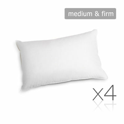 Giselle Bedding Family Hotel 4 Pack Bed Pillow Soft Medium Firm Cotton 48X73CM
