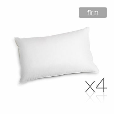 Giselle Bedding 4 Pack Bed Pillow Medium Firm Cotton Cover 48X73CM Hotel Family