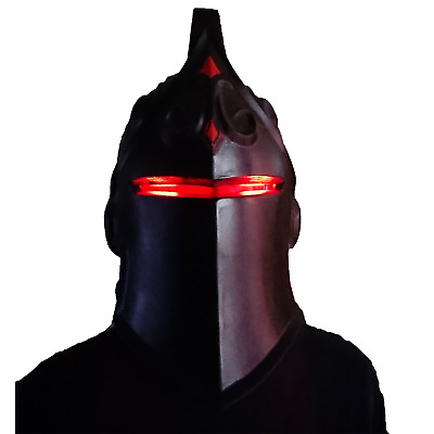 Black Knight helmet with LED from Fortnite. Full size. Painted and assembled