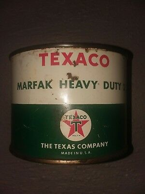 Vintage Texaco Marfak Heavy Duty #2 Grease, 1 Pound Can, Empty Display only