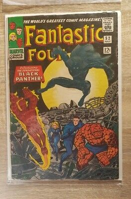 Fantastic Four #52 1st Appearance of Black Panther