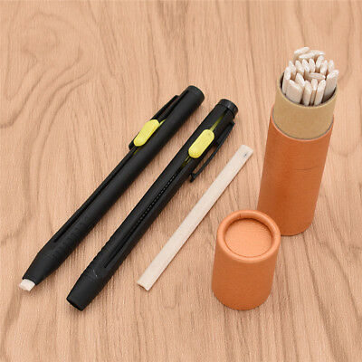 Two Black Plastic Pencil Chalk Soluble Holder Tailor's Tool Sewing Fabric Making