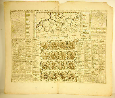 Henri Chatelain 1720 Card states of Prussia Germany Germany map sovereigns
