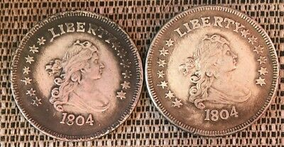 """Lot Of 2 Novelty 1804 Dollars. """""""" Not Real"""""""""""