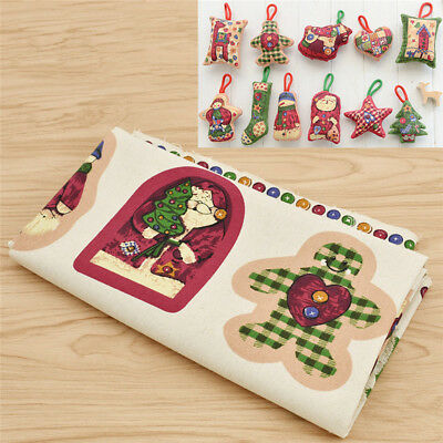 """Embroidered Quilt Block Panel /""""Mrs Claus Christmas Clothesline/"""" Pure Irish Linen"""