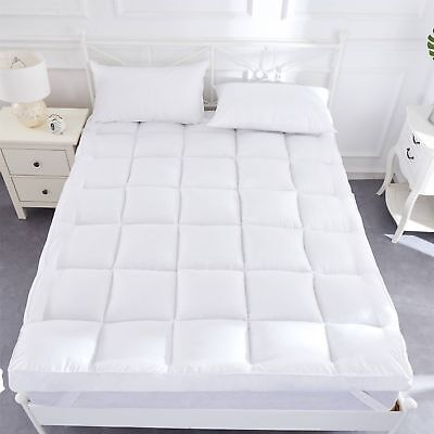Luxury Duck Feather & Down, Goose Feather & Down Mattress Toppers 12.5 CMS Thick