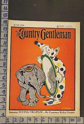1932 Circus Clown Carnival Costume Animal Elephant Illus Snyder Cover Rj78