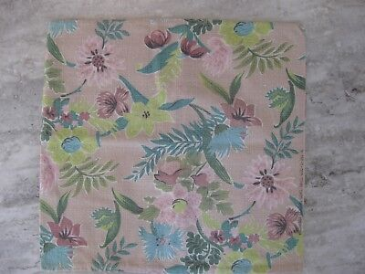 Sweet Vintage Cotton Bark Cloth Pillow Cover
