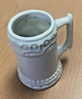 """Miniature Off White beer stein F96 OR F95  made in BRAZIL 2 1/2"""" tall  mini"""