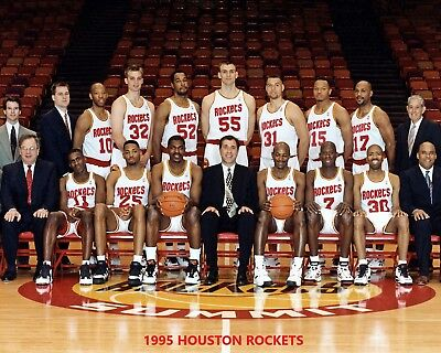1995 Houston Rockets Team 8X10 Photo Picture Basketball Nba