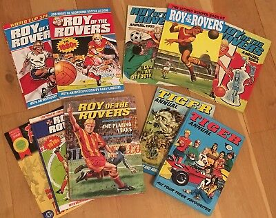 Roy Of The Rovers & Tiger Annuals 70s 80s World Cup Millenium Specials