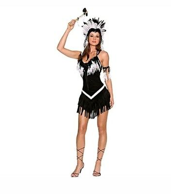 Dreamgirl Tribal Indian Princess Native American Womens Halloween Costume Size L