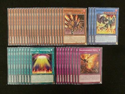 Yu-Gi-Oh 43 Card Salamangreat Deck  *ready To Play*