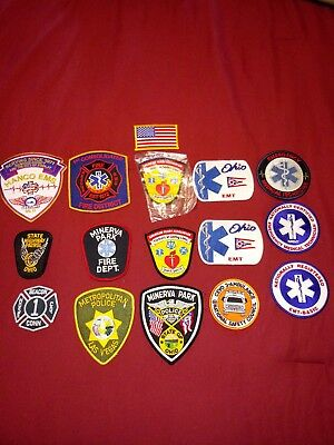 Lot of Fire Fighting And EMS EMT Fire Department Patches
