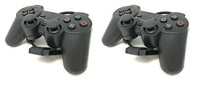 2 X Joystick Playstation 2 Joypad PS2 Con Dual Vbration Controller Gamepad