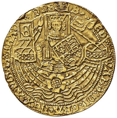 Great Britain, Edward IV (1461-70). Gold Noble, London (36mm, 6.58g, 5h).
