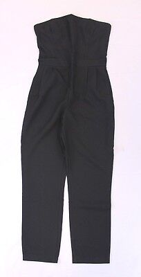 2bf4010993cb boohoo Women s Petite Grace Bandeau Tailored Jumpsuit GG8 Black Size US 4  NWT