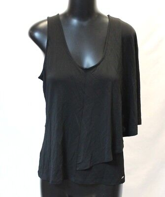 A/X Armani Exchange Women's Asymmetrical Cape Top Black Size Medium NWT $59.50