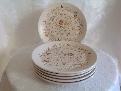 Set OF 6 Lenox China Temperware Merriment Pattern Salad Plates