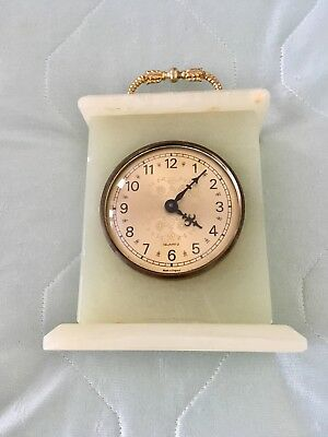 Vintage Marble Carriage Quartz Wall Clock MADE IN ENGLAND / W.GERMAY MOVEMENT