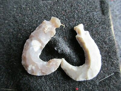 NATIVE AMERICAN ARROWHEAD, Illinois Collector Fish Hooks, Spear Point,  Chi-02336