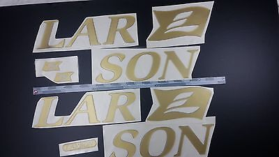 """LARSON boat Emblem 26"""" Gold + FREE FAST delivery DHL express - stickers decal"""