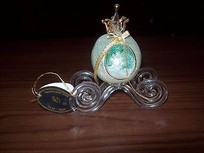Hand-Sculpted Glass Artistry 22kt Gold Carriage Save On Shipping