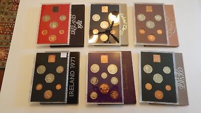 Great Britain & Norther Ireland Proof Sets (1970, 1971, 1974, 1976, 1978 & 1981)