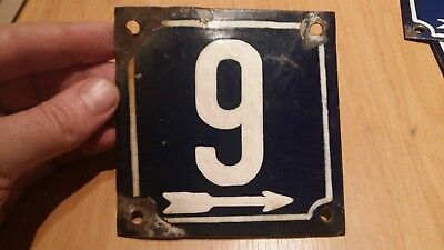 French enamel house number 9