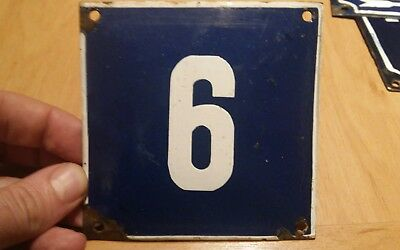 French enamel house number 6