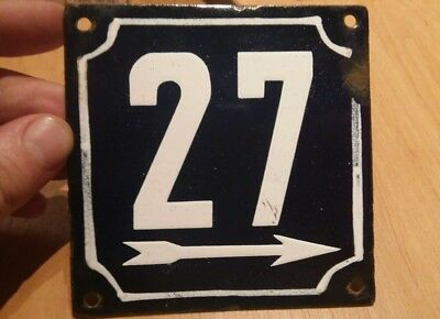 French enamel house number 27