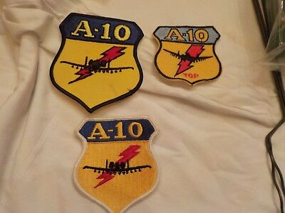 3 Usaf A-10 Thunderbolt Patches