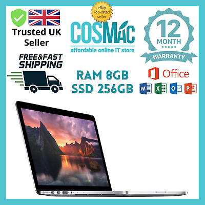 "Apple MacBook Pro 13.3"" Retina Core i5 2.6ghz 8GB 256GB Flash Mid-2013 A Grade"