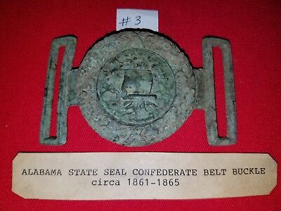 Alabama state seal Confederate belt buckle Circa 1861 - 1865