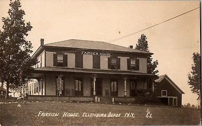 Postcard ELLENBURG DEPOT NY RPPC GREAT VIEW of FAIRVIEW HOUSE