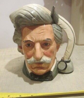 Vintage Royal Doulton Mark Twain Jug, Large D6654  signed see 6th picture