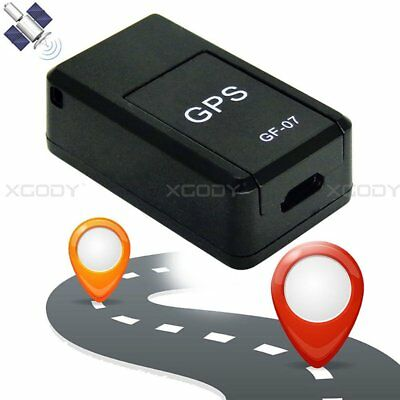 Mini Magnetic GF-07 GSM GPRS GPS Tracker Real Time Tracking Locator Device Black