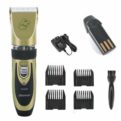 Pet Dog Cat Electric Grooming Clippers Low Noise Rechargeable Cordless Shaver