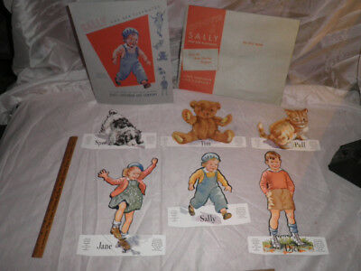 "Antique ""Sally & Her Playmates"" Dick and Jane Paper Doll Set"