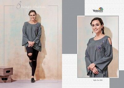 Indian Designer Rayon Party Wear Short Top/Tunic