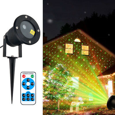 Outdoor Xmas R&G Lawn Garden Laser Projector Moving Stage LED Light Disco KTV AU
